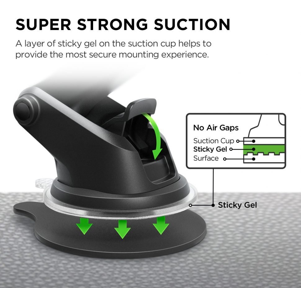 Easy One Touch Wireless, Fast Charging Mount