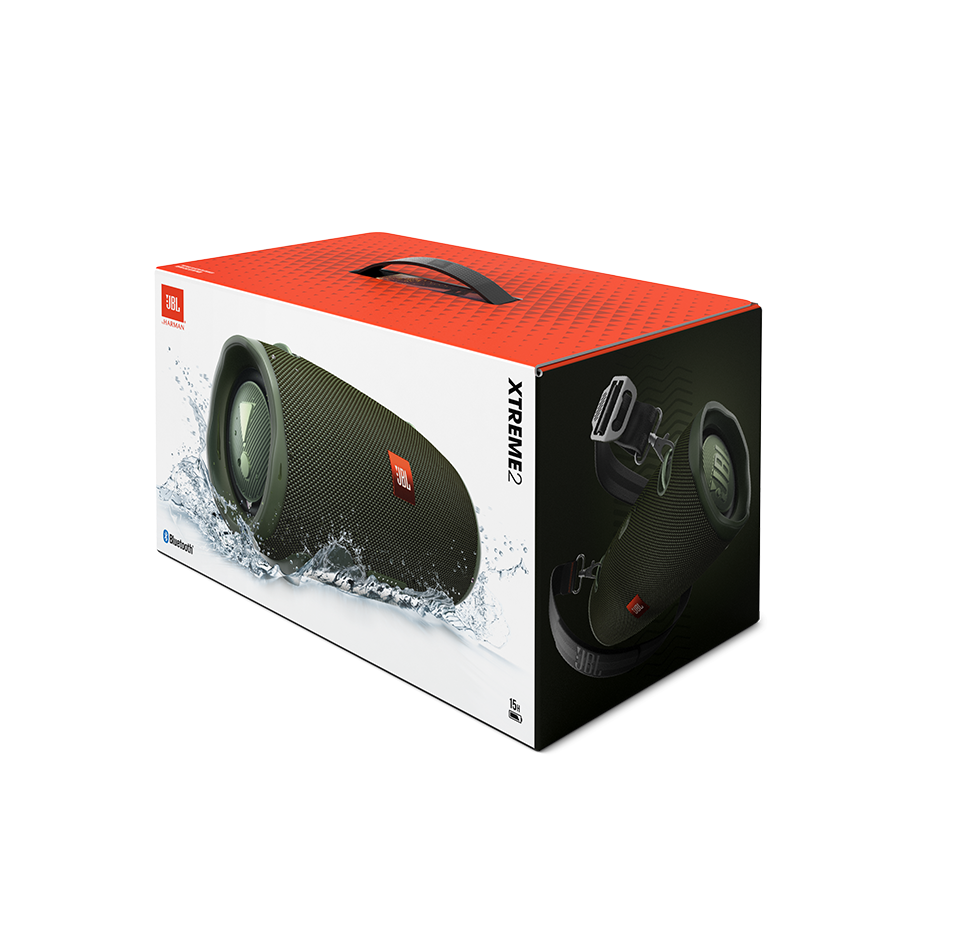 Xtreme 2, Bluetooth Speaker with Carry Strap, IPX7-Waterproof