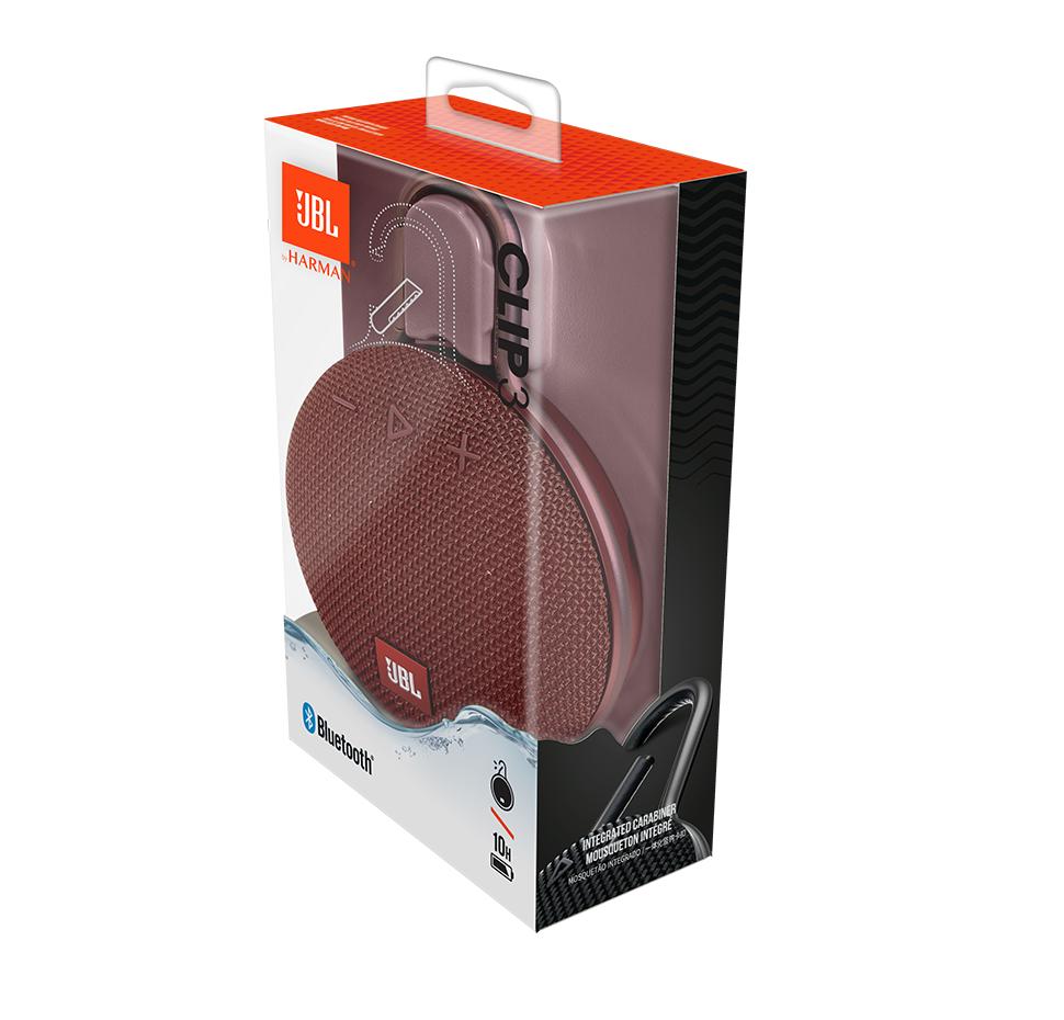 Clip 3, Bluetooth Speaker, with Carabiner, Waterproof-IPX7