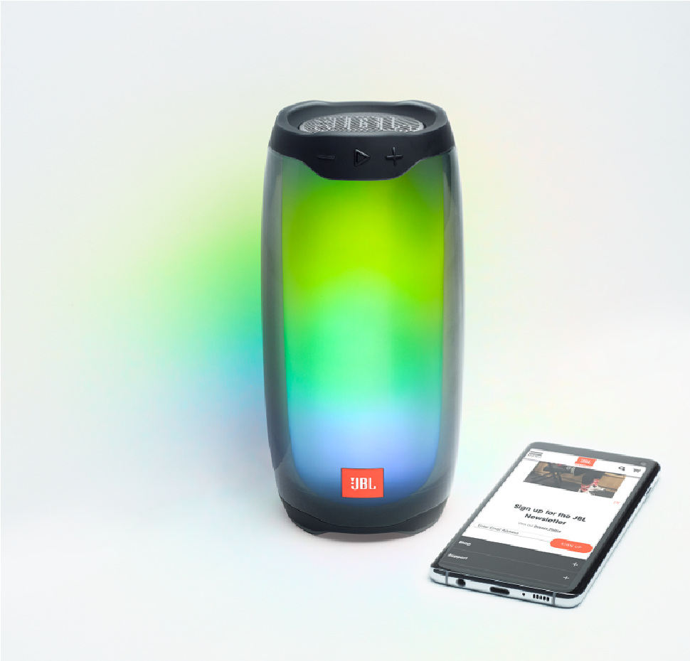 Pulse 4, Bluetooth Speaker (IPX7) with 360 LED light effects