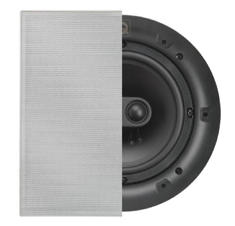 QI65C ST Stereo Speaker, In-Ceiling, Square Grille