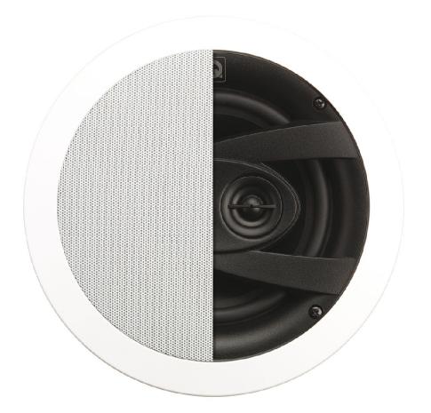 QI65CW ST Stereo Speaker, Weatherproof, In-Ceiling, Circular Gri