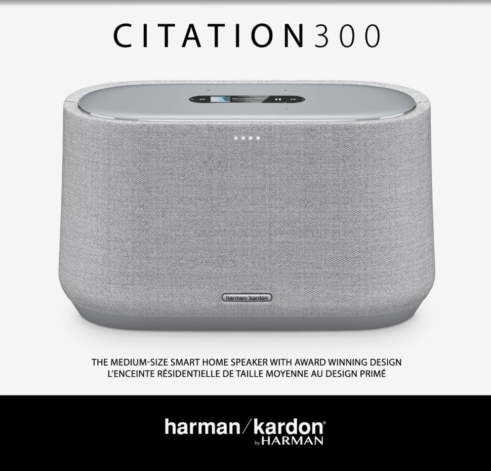 Citation 300, Voice-activated speaker with Google Assistant, LCD