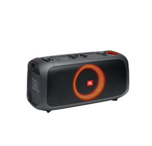 Partybox On the GO, Portable Party Speaker with Strap and Mic