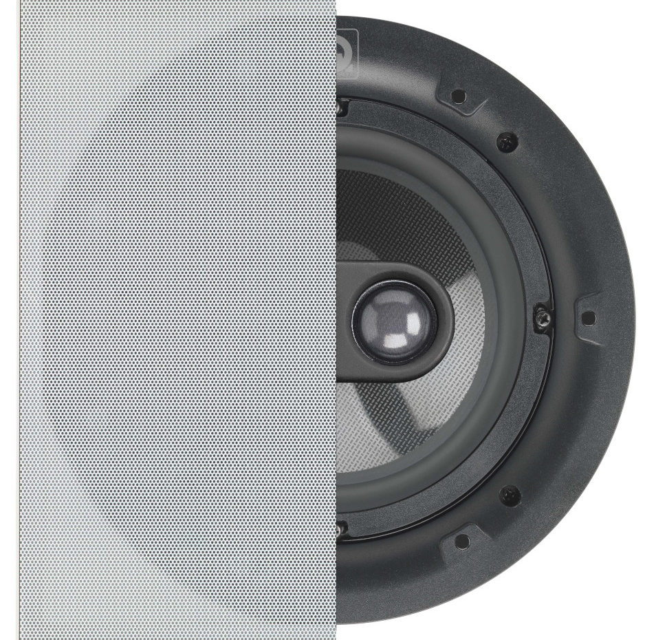 QI65SP ST, Stereo Performance Speaker, In-Ceiling, Square Grille